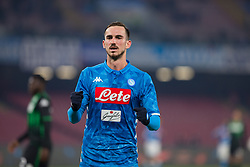 January 13, 2019 - Naples, Campania, Italy - Fabian Ruiz of SSC Napoli seen celebrating a goal during the Serie A football match between SSC Napoli vs US Sassuolo at San Paolo Stadium. (Credit Image: © Ernesto Vicinanza/SOPA Images via ZUMA Wire)