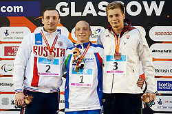 KALINA Andrei, MORLACCHI Federico, TOTH James RUS, ITA, BLR at 2015 IPC Swimming World Championships -  Men's 200m Individual Medley SM9