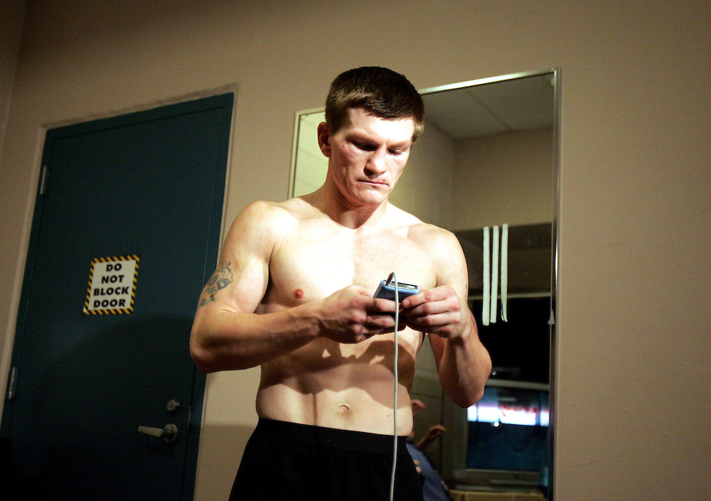 Ricky Hatton gets in the mood before the fight. Ricky Hatton v Floyd Mayweather, Las Vegas, Nevada.