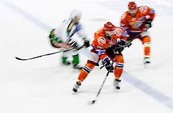 Players during ice-hockey match between HK Acroni Jesenice and HDD Tilia Olimpija in fourth game of Final at Slovenian National League, on April 8, 2011 at Arena Podmezakla, Jesenice, Slovenia. (Photo by Vid Ponikvar / Sportida)