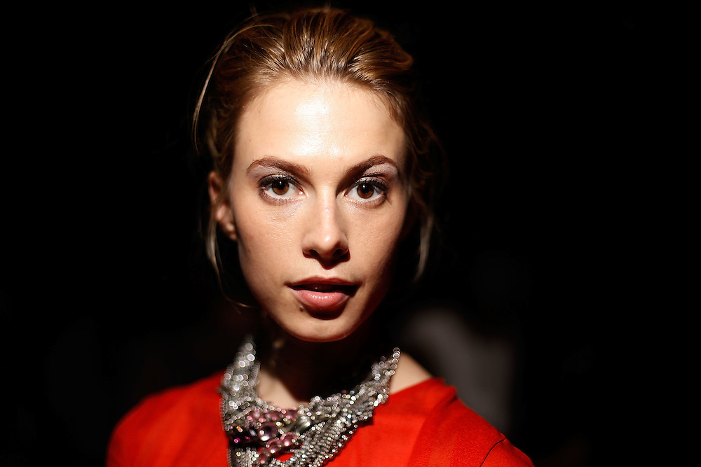 NEW YORK - SEPTEMBER 14:  Model Elettra Rossellini Wiedemann attends Thakoon Spring 2010 during Mercedes-Benz Fashion Week at Eyebeam on September 14, 2009 in New York City.  (Photo by Joe Kohen/WireImage)