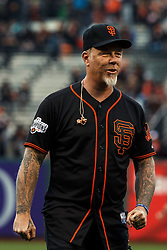 SAN FRANCISCO, CA - MAY 06: Recording artist James Hetfield of the rock band Metallica walks on the field after performing the national anthem before the game between the San Francisco Giants and the Colorado Rockies at AT&T Park on May 6, 2016 in San Francisco, California. The San Francisco Giants defeated the Colorado Rockies 6-4. (Photo by Jason O. Watson/Getty Images) *** Local Caption *** James Hetfield