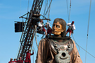 Royal de Luxe performing their new work Franciscopolis in Le Havre, during the 500th anniversary of the city being founded, Normandy, France (July 2017) © Rudolf Abraham