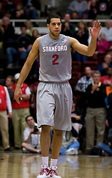 February 27, 2010; Stanford, CA, USA;  Stanford Cardinal guard/forward Landry Fields (2) during the second half against the Arizona Wildcats at Maples Pavilion.  Arizona defeated Stanford 71-69.