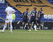 Ross County's Jamie Reckord is congratulated by Ross County's Michael Gardyne after scoring the winner - Ross County v Dundee, SPFL Premiership at The Global Energy Stadium<br /> <br />  - &copy; David Young - www.davidyoungphoto.co.uk - email: davidyoungphoto@gmail.com