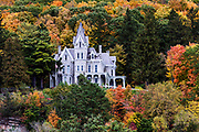 Skene Manor, a Victorian Gothic-style mansion in Whitehall, New York, USA.