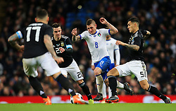 Marco Verratti of Italy takes on Giovani Lo Celso of Argentina - Mandatory by-line: Matt McNulty/JMP - 23/03/2018 - FOOTBALL - Etihad Stadium - Manchester, England - Argentina v Italy - International Friendly