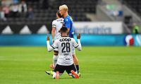 Fotball Menn Eliteserien Rosenborg-Stabæk<br /> Lerkendal Stadion,Trondheim<br /> 24 august 2019<br /> <br /> Samuel Adegbenro har scoret 2-1 for Rosenborg og feirer på sin egen måte<br /> <br /> <br /> Foto : Arve Johnsen, Digitalsport