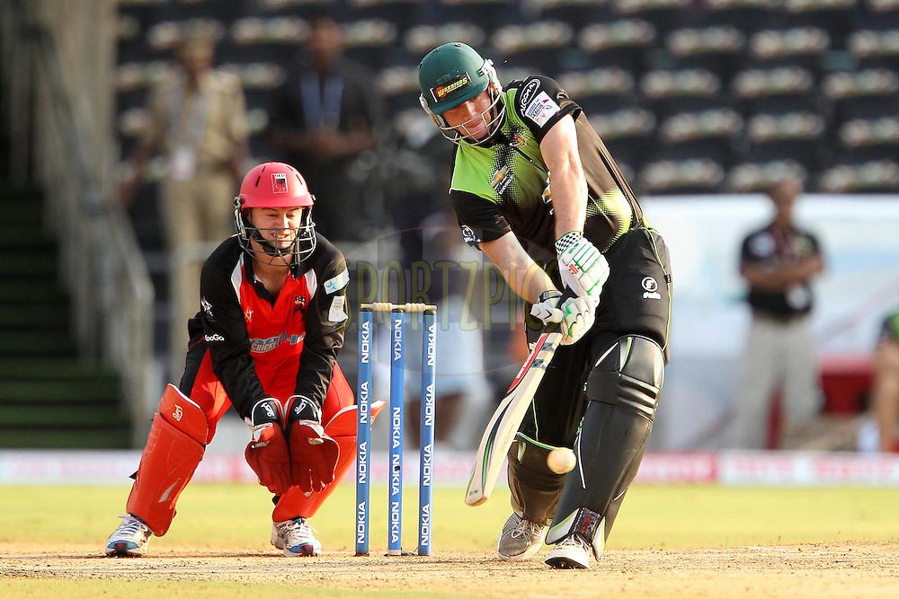 Jon Jon Smuts during Match 4 of the NOKIA CLT20 between The Warriors and the South Australian Redbacks held at the Rajiv Gandhi International Stadium, Hyderabad on the 25th September 2011..Photo by Ron Gaunt/BCCI/SPORTZPICS