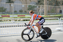 Race winner, Karlijn Swinkels (NED) at the 13.7 km Junior Women's Individual Time Trial, UCI Road World Championships 2016 on 10th October 2016 in Doha, Qatar. (Photo by Sean Robinson/Velofocus).