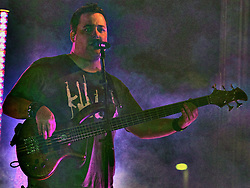 20 September 2014:   Marc Broomby.  Brushville performs at the Chris Brown Benefit Concert at the Corn Crib Stadium, Normal Illinois.  The band is comprised of Brett Gillan - frontman-guitar-vocals, Kirk Ellis - violin-guitar, Dustin Reynolds - guitar, Marc Broomby - bass, Darin Holthaus - drums