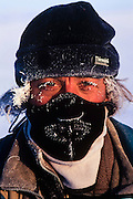 Pete Oxford<br /> while photographing at -40º<br /> Darkhad Depression<br /> Northern Mongolia
