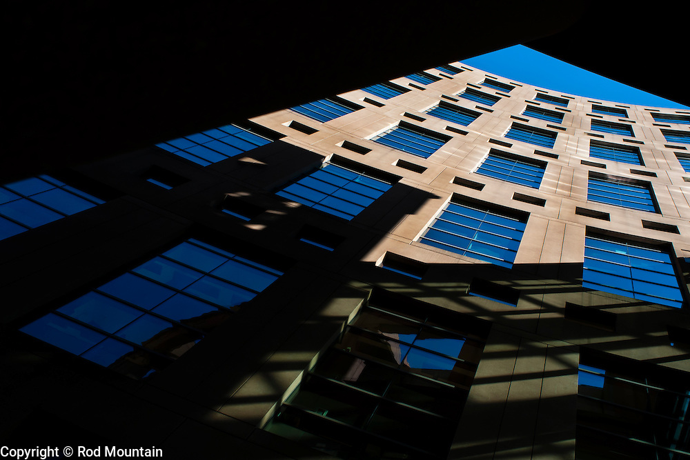 The Vancouver Library's main branch is framed from a different point of view. <br /> <br /> Photo: &copy; Rod Mountain<br /> <br /> http://www.rodmountain.com<br /> <br /> @rod_mountain