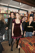 Robert Denning, Lady Ella Windsor, Lady Eloise Anson, Book launch of Pretty Things by Liz Goldwyn at Daunt <br />