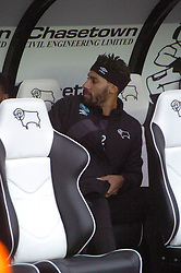Derbys Ryan Shotton gets his seat as Substitute, Derby County v Brighton &Hove Albion, IPro Stadium, Sky Bet Championship,  Saturday 12th December 2015