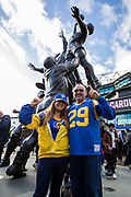 Los Angeles Rams Fans during the International Series match between Arizona Cardinals and Los Angeles Rams at Twickenham, Richmond, United Kingdom on 22 October 2017. Photo by Jason Brown.