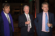 JOEL CADBURY; TIM CHRISTIE; OLI CHRISTIE, Action Against Cancer 'A Voyage of Discovery' fundraising dinner at the Science Museum on Wednesday 14 October 2015.