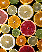 CITRUS FRUITS. LEMON LIMES GRAPEFRUITS ORANGES