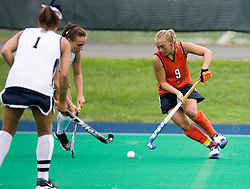 Virginia Cavaliers M/F Traci Ragukas (9)..The #10 ranked Virginia Cavaliers fell to the #7 ranked Penn State Nittany Lions 3-1 at the University Hall Turf Field in Charlottesville, VA on August 26, 2007.