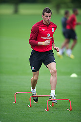 CARDIFF, WALES - Monday, August 13, 2012: Wales' Gareth Bale during a training session at the Vale of Glamorgan ahead of the international friendly match against Bosnia-Herzegovina. (Pic by David Rawcliffe/Propaganda)