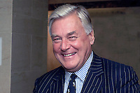 Edwin Boorman, president of the Newspaper Society and chairman, KM Group. Taken at annual conference of the (UK) Society of Editors held in Belfast 21 to 23 October 2001. Ref: 200110234514.<br />