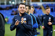 Peterborough Utd's Lee Tomlin (29) claps the fans before the EFL Sky Bet League 1 match between Peterborough United and Rochdale at London Road, Peterborough, England on 12 January 2019.