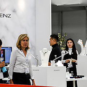 London, UK. 3rd September, 2018. Hundreds of stalls and many come from China exhibition with a SS18 Trends Catwalk at International Jewellery London 2018