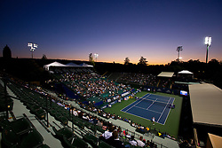 July 25, 2011; Stanford, CA, USA;  General view of the Taube Family Tennis Stadium during the first round match between Kimiko Date-Krumm (JPN) and Dominika Cibulkova (SVK) during the Bank of the West Classic women's tennis tournament. Cibulkova defeated Date-Krumm 6-2, 7-6.