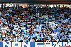 """Foto Filippo Rubin<br /> 06/05/2018 Ferrara (Italia)<br /> Sport Calcio<br /> Spal - Benvento - Campionato di calcio Serie A 2017/2018 - Stadio """"Paolo Mazza""""<br /> Nella foto: I TIFOSI DELLA SPAL<br /> <br /> Photo Filippo Rubin<br /> May 06, 2018 Ferrara (Italy)<br /> Sport Soccer<br /> Spal vs Benvento - Italian Football Championship League A 2017/2018 - """"Paolo Mazza"""" Stadium <br /> In the pic: SPAL SUPPORTERS"""