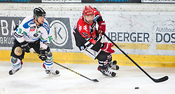 28.12.2015, Tiroler Wasserkraft Arena, Innsbruck, AUT, EBEL, HC TWK Innsbruck die Haie vs HDD TELEMACH Olimpija Ljubljana, 36. Runde, im Bild vl.: Ales Music (HDD Telemach Olimpija Ljubljana), Nick Schaus (HC TWK Innsbruck  Die Haie) // during the Erste Bank Icehockey League 36th round match between HC TWK Innsbruck  die Haie and HDD TELEMACH Olimpija Ljubljana at the Tiroler Wasserkraft Arena in Innsbruck, Austria on 2015/12/28. EXPA Pictures © 2015, PhotoCredit: EXPA/ Jakob Gruber
