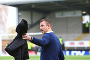 Derby manager Gary Rowett arrives at the Pirelli during the EFL Sky Bet Championship match between Burton Albion and Derby County at the Pirelli Stadium, Burton upon Trent, England on 14 April 2018. Picture by John Potts.