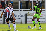 Forest Green Rovers Ebou Adams(14) on the ball during the Pre-Season Friendly match between Bath City and Forest Green Rovers at Twerton Park, Bath, United Kingdom on 27 July 2019.
