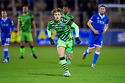 Kyle Taylor (#28) of Forest Green Rovers during the The FA Cup match between Carlisle United and Forest Green Rovers at Brunton Park, Carlisle, England on 10 December 2019.
