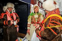 Indigenous Sami in Jokkmokk, Sweden