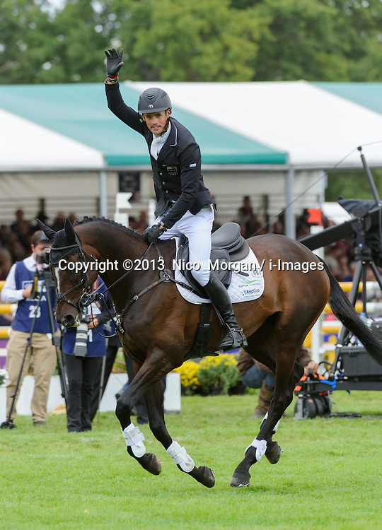 New Zealand's Jonathan Paget wins Burghley, Burghley House, Stamford, UK, Sunday, 8th September 2013. Picture by  Nico  Morgan / i-Images