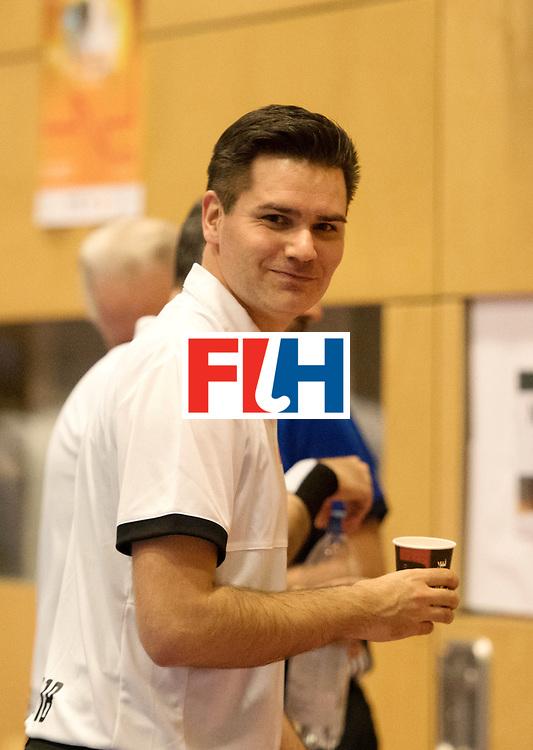 BERLIN - Indoor Hockey World Cup<br /> Kazachstan - Czech Republic<br /> foto: Umpire Ben Goentgen<br /> WORLDSPORTPICS COPYRIGHT FRANK UIJLENBROEK