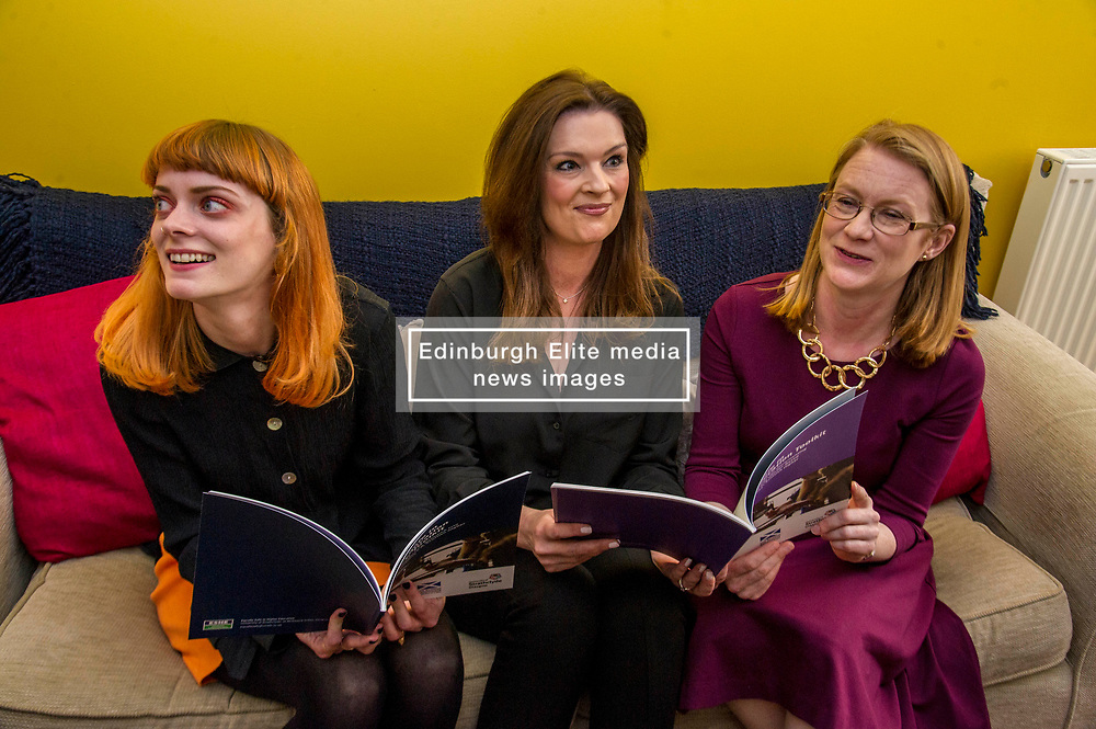 Pictured: Jenny Macaren, (ginger hair) Rape Crisis, Strathclyde University, Shirley-Anne Sommervill and Fiona Drouet discuss the need for the toolkit<br /> New practical guidance for universities to tackle gender-based violence on campus was launched today (Wednesday 25 April) by Further and Higher Education Minister, Shirley-Anne Somerville,  .<br /> <br /> Guidance and training for staff, better data collection and well-publicised support information for students are some of the recommendations set out in the toolkit, which has been produced by the University of Strathclyde and funded by the Scottish Government.<br /> <br /> The toolkit, which will be adapted for colleges, takes forward the principles set out in the #emilytest campaign set up by Fiona Drouet, in memory of her daughter Emily.<br /> <br /> The Minister visited Glasgow Rape Crisis Centre and heard about the work they do to support people affected by gender-based violence and their support in developing the toolkit. Ms Somerville met Fiona Drouet and other organisations involved in the development of the toolkit to discuss the #emilytest campaign and on-going work to support students affected by gender-based violence.<br /> <br /> Ger Harley | EEm 25 April 2018