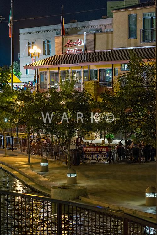 HARP Pueblo Riverwalk at night