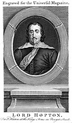 Ralph Hopton, Ist Baron Hopton (1598-1652)  English Royalist soldier, commander of Charles I's forces in south-west of England (1642-6). Copperplate engraving.