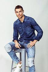 Cristiano Ronaldo and his son Cristiano Ronaldo Jr pose in clothes - 11 March 2018