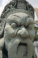 Stone guardian statue Wat Pra Kaew near Royal Grand Palace Bangkok Thailand&#xA;<br />