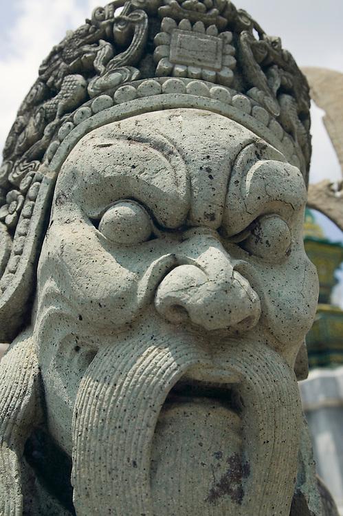 Stone guardian statue Wat Pra Kaew near Royal Grand Palace Bangkok Thailand&amp;#xA;<br />