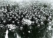 Spartakist rising in Germany: Delegation of sailors attending the funeral of victims of the rising in Berlin, 20 November 1918.