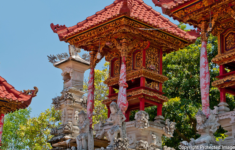 A beautiful private temple at a home on Nusa Penida island, Bali, Indonesia