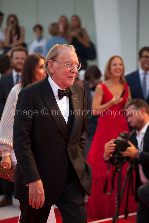 Donald Sutherland at the premiere of the film The Leisure Seeker (Ella & John) at the 74th Venice Film Festival, Sala Grande on Sunday 3 September 2017, Venice Lido, Italy.