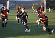 Dundee schoolboy select (black) v Aberdeenshire (orange) - The TSB U15 National Trophy Semi final - Dundee v. Aberdeenshire at Whitton Park,<br /> <br /> <br />  - &copy; David Young - www.davidyoungphoto.co.uk - email: davidyoungphoto@gmail.com