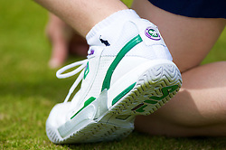 LONDON, ENGLAND - Tuesday, June 24, 2008: The fila shoe of a ball-boy during a first round match on day two of the Wimbledon Lawn Tennis Championships at the All England Lawn Tennis and Croquet Club. (Photo by David Rawcliffe/Propaganda)