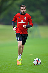 CARDIFF, WALES - Friday, September 2, 2016: Wales' Paul Dummett during a training session at the Vale Resort ahead of the 2018 FIFA World Cup Qualifying Group D match against Moldova. (Pic by David Rawcliffe/Propaganda)