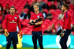 Tom Heaton, Joe Hart and Jack Butland of England - Mandatory by-line: Robbie Stephenson/JMP - 04/09/2017 - FOOTBALL - Wembley Stadium - London, United Kingdom - England v Slovakia - 2018 FIFA World Cup Qualifier