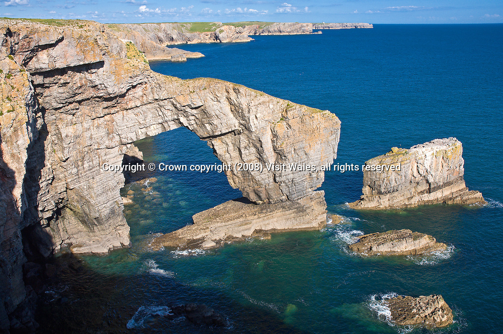 Green Bridge of Wales<br /> Pembrokeshire<br /> South<br /> Towns &amp; Villages